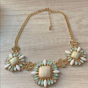 Flower Gold Statement Necklace